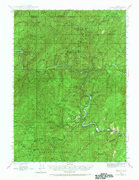 Galice Oregon Historical topographic map, 1:62500 scale, 15 X 15 Minute, Year 1946