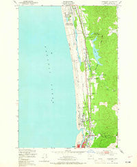 Gearhart Oregon Historical topographic map, 1:24000 scale, 7.5 X 7.5 Minute, Year 1949