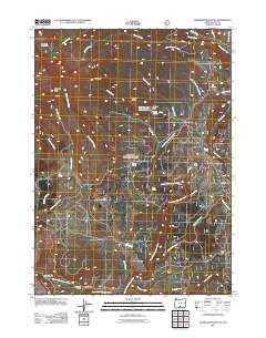 Gearhart Mountain Oregon Historical topographic map, 1:24000 scale, 7.5 X 7.5 Minute, Year 2011