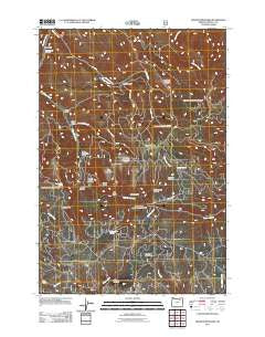 Granite Meadows Oregon Historical topographic map, 1:24000 scale, 7.5 X 7.5 Minute, Year 2011