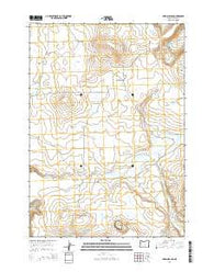 Hardin Ranch Oregon Current topographic map, 1:24000 scale, 7.5 X 7.5 Minute, Year 2014