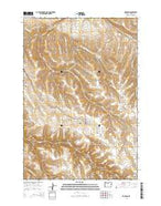 Hardman Oregon Current topographic map, 1:24000 scale, 7.5 X 7.5 Minute, Year 2014 from Oregon Map Store