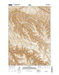 Hardman Oregon Current topographic map, 1:24000 scale, 7.5 X 7.5 Minute, Year 2014