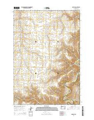 Harmony Oregon Current topographic map, 1:24000 scale, 7.5 X 7.5 Minute, Year 2014