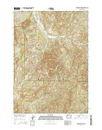 Harness Mountain Oregon Current topographic map, 1:24000 scale, 7.5 X 7.5 Minute, Year 2014 from Oregon Map Store