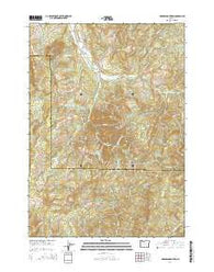 Harness Mountain Oregon Current topographic map, 1:24000 scale, 7.5 X 7.5 Minute, Year 2014