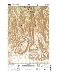 Harney Oregon Current topographic map, 1:24000 scale, 7.5 X 7.5 Minute, Year 2014