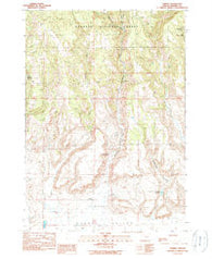 Harney Oregon Historical topographic map, 1:24000 scale, 7.5 X 7.5 Minute, Year 1990