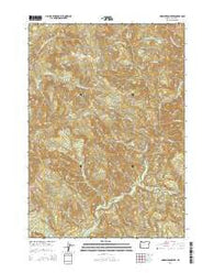 Harrington Creek Oregon Current topographic map, 1:24000 scale, 7.5 X 7.5 Minute, Year 2014