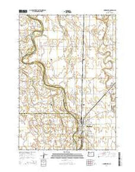 Harrisburg Oregon Current topographic map, 1:24000 scale, 7.5 X 7.5 Minute, Year 2014