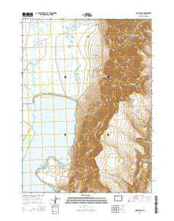 Hart Lake Oregon Current topographic map, 1:24000 scale, 7.5 X 7.5 Minute, Year 2014