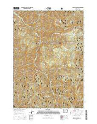 Harvey Mountain Oregon Current topographic map, 1:24000 scale, 7.5 X 7.5 Minute, Year 2014