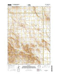 Hat Butte Oregon Current topographic map, 1:24000 scale, 7.5 X 7.5 Minute, Year 2014