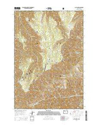 Hat Point Oregon Current topographic map, 1:24000 scale, 7.5 X 7.5 Minute, Year 2014