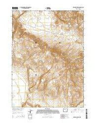 Hawks Mountain Oregon Current topographic map, 1:24000 scale, 7.5 X 7.5 Minute, Year 2014