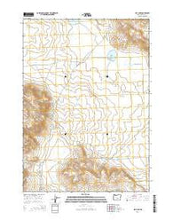Hay Lake Oregon Current topographic map, 1:24000 scale, 7.5 X 7.5 Minute, Year 2014