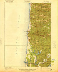 Heceta Head Oregon Historical topographic map, 1:62500 scale, 15 X 15 Minute, Year 1920
