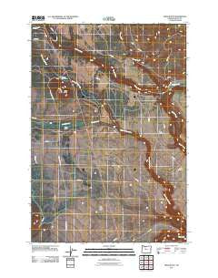 Hehe Butte Oregon Historical topographic map, 1:24000 scale, 7.5 X 7.5 Minute, Year 2011