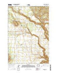 Hehe Butte Oregon Current topographic map, 1:24000 scale, 7.5 X 7.5 Minute, Year 2014