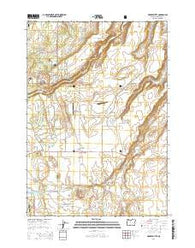 Henkle Butte Oregon Current topographic map, 1:24000 scale, 7.5 X 7.5 Minute, Year 2014