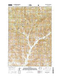 Hensley Butte Oregon Current topographic map, 1:24000 scale, 7.5 X 7.5 Minute, Year 2014