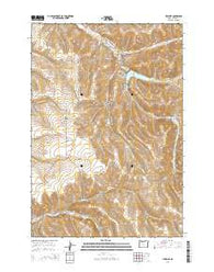 Heppner Oregon Current topographic map, 1:24000 scale, 7.5 X 7.5 Minute, Year 2014