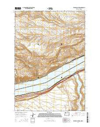 Heppner Junction Oregon Current topographic map, 1:24000 scale, 7.5 X 7.5 Minute, Year 2014