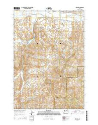 Hereford Oregon Current topographic map, 1:24000 scale, 7.5 X 7.5 Minute, Year 2014