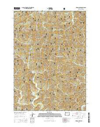 Herman Creek Oregon Current topographic map, 1:24000 scale, 7.5 X 7.5 Minute, Year 2014