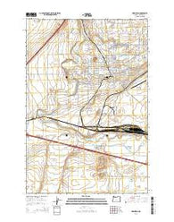Hermiston Oregon Current topographic map, 1:24000 scale, 7.5 X 7.5 Minute, Year 2014
