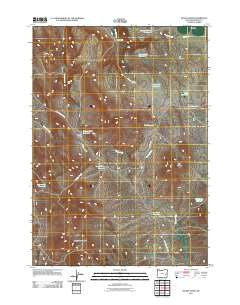 Hickey Basin Oregon Historical topographic map, 1:24000 scale, 7.5 X 7.5 Minute, Year 2011