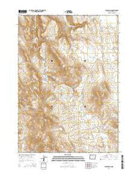 Hickey Basin Oregon Current topographic map, 1:24000 scale, 7.5 X 7.5 Minute, Year 2014