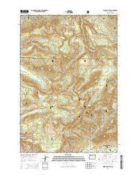 Hickman Butte Oregon Current topographic map, 1:24000 scale, 7.5 X 7.5 Minute, Year 2014