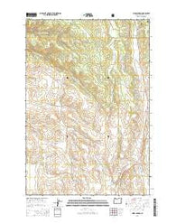 Hicks Spring Oregon Current topographic map, 1:24000 scale, 7.5 X 7.5 Minute, Year 2014