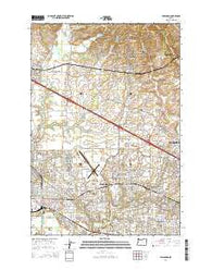 Hillsboro Oregon Current topographic map, 1:24000 scale, 7.5 X 7.5 Minute, Year 2014