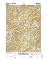 Hinkle Creek Oregon Current topographic map, 1:24000 scale, 7.5 X 7.5 Minute, Year 2014