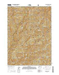 Hobson Horn Oregon Current topographic map, 1:24000 scale, 7.5 X 7.5 Minute, Year 2014