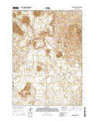 Hogback Butte Oregon Current topographic map, 1:24000 scale, 7.5 X 7.5 Minute, Year 2014