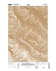 Holdman Oregon Current topographic map, 1:24000 scale, 7.5 X 7.5 Minute, Year 2014