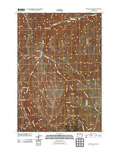 Hoodlum Canyon Oregon Historical topographic map, 1:24000 scale, 7.5 X 7.5 Minute, Year 2011