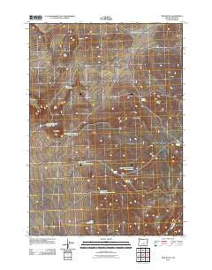Ibex Butte Oregon Historical topographic map, 1:24000 scale, 7.5 X 7.5 Minute, Year 2011