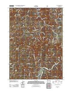 Illahe Oregon Historical topographic map, 1:24000 scale, 7.5 X 7.5 Minute, Year 2011