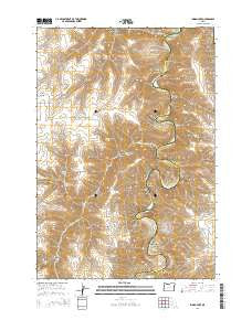 Indian Cove Oregon Current topographic map, 1:24000 scale, 7.5 X 7.5 Minute, Year 2014