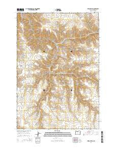 Indian Spring Oregon Current topographic map, 1:24000 scale, 7.5 X 7.5 Minute, Year 2014