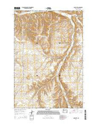 Ione South Oregon Current topographic map, 1:24000 scale, 7.5 X 7.5 Minute, Year 2014