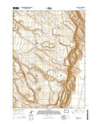 Irish Lake Oregon Current topographic map, 1:24000 scale, 7.5 X 7.5 Minute, Year 2014