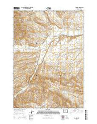 Ironside Oregon Current topographic map, 1:24000 scale, 7.5 X 7.5 Minute, Year 2014