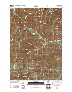 Izee Oregon Historical topographic map, 1:24000 scale, 7.5 X 7.5 Minute, Year 2011