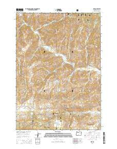 Izee Oregon Current topographic map, 1:24000 scale, 7.5 X 7.5 Minute, Year 2014