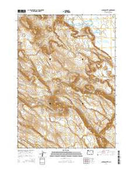 Jackass Butte Oregon Current topographic map, 1:24000 scale, 7.5 X 7.5 Minute, Year 2014